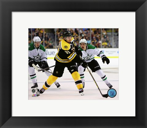 Framed Patrice Bergeron 2015-16 Action Print