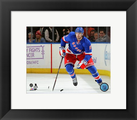 Framed Rick Nash 2015-16 Action Print