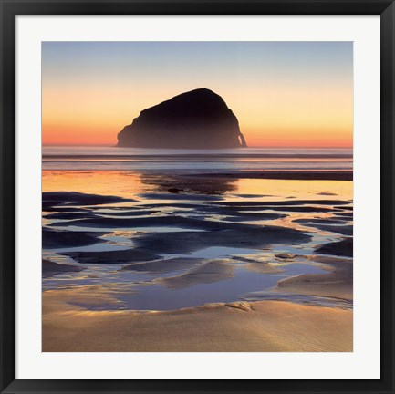 Framed Reflecting Rock Print