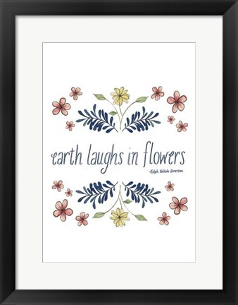 Framed Flowers by Grace III Print