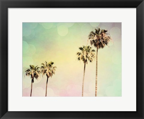 Framed Palm Trees II Print
