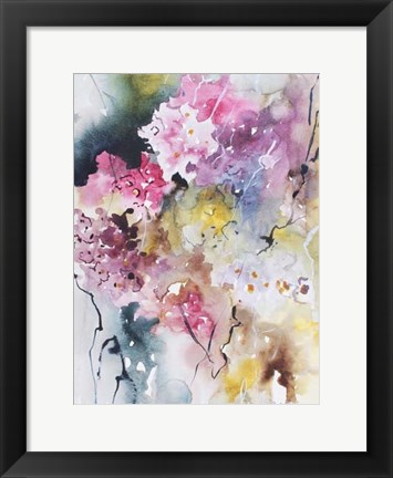Framed Blooms Aquas III Print