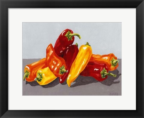 Framed Pepper Collection II Print