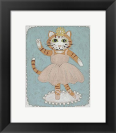 Framed Ballerina Animal IV Print