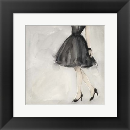 Framed Little Black Dress II Print
