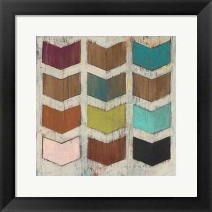 Framed Chevron Matrix III Print