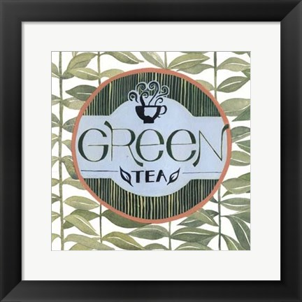 Framed Tea Label III Print