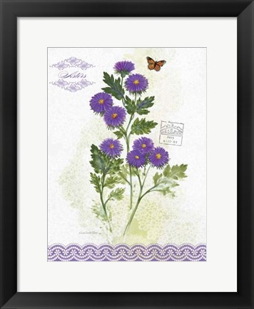 Framed Flower Study on Lace II Print