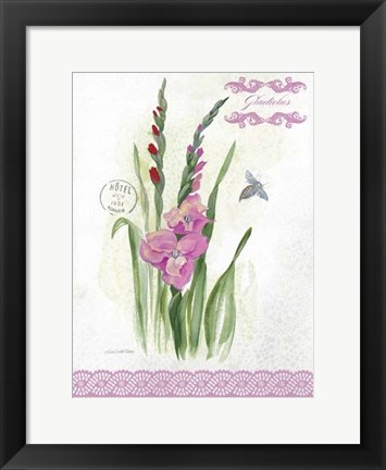 Framed Flower Study on Lace VI Print
