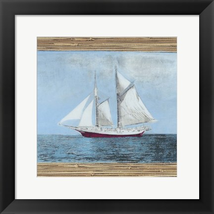 Framed Seagrass Nautical II Print