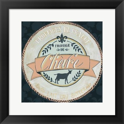 Framed Cheese Label II Print