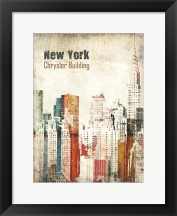 Framed New York Grunge IV Print