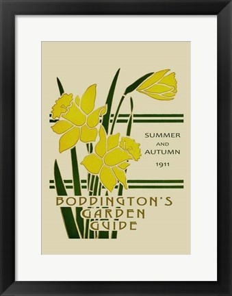 Framed Boddington's Garden Guide I Print