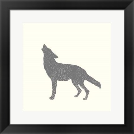 Framed Timber Animals IV Print