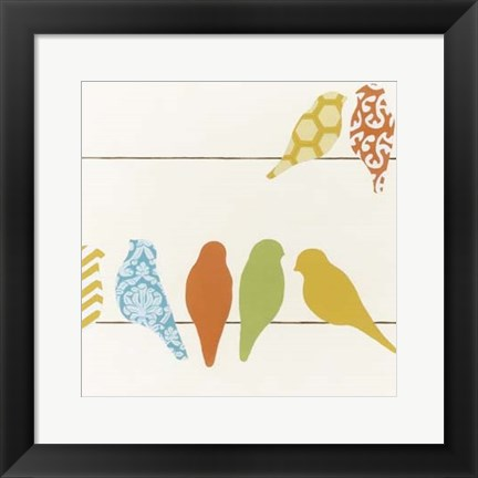 Framed Patterned Perch III Print