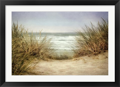 Framed Sea Grasses 1 Print