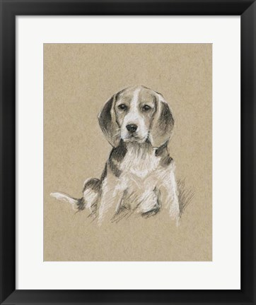 Framed Breed Sketches I Print