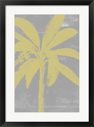 Framed Chromatic Palms III Print