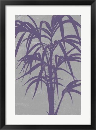 Framed Chromatic Palms V Print