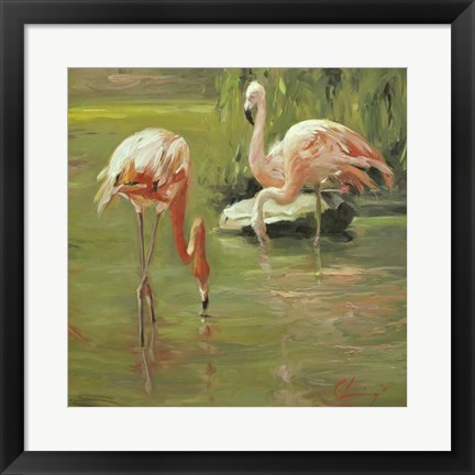 Framed Flamingo II Print