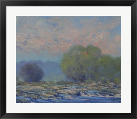 Framed James River from Belle Isle I Print