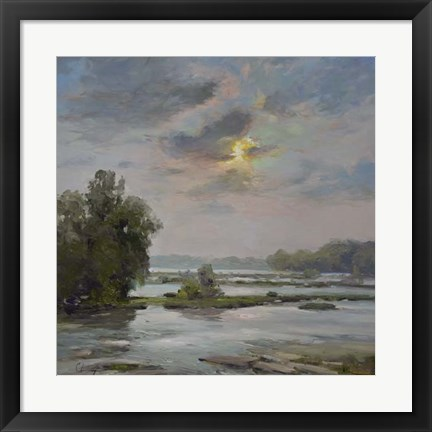 Framed James River from Belle Isle II Print