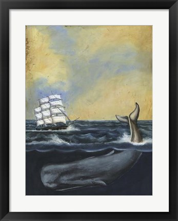 Framed Whaling Stories I Print