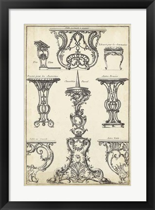 Framed Antique French Ornament I Print