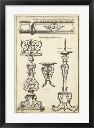 Framed Antique French Ornament II Print