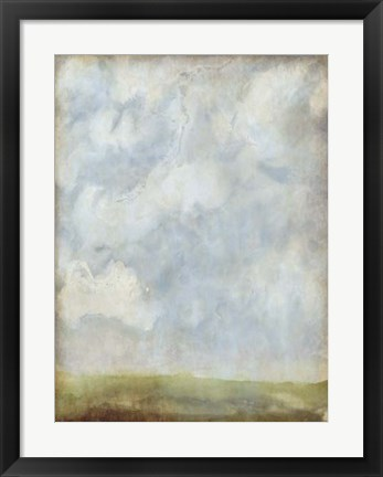 Framed Aged Abstract Landscape II Print