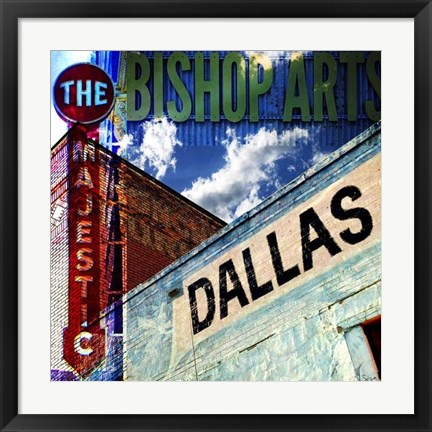 Framed Bishop Art - Dallas Print