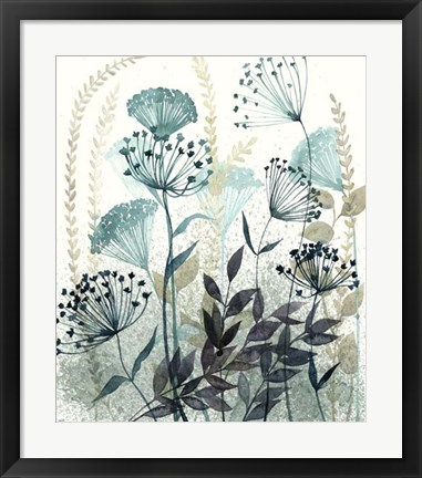 Framed Allayed Floral I Print