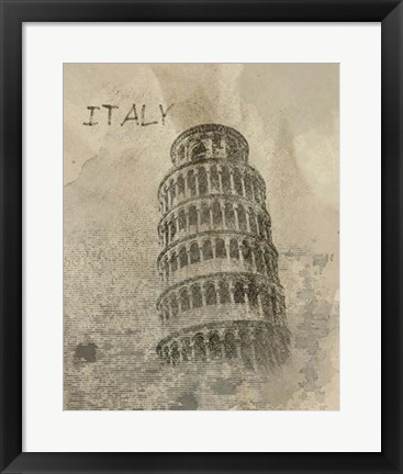 Framed Remembering Italy Print