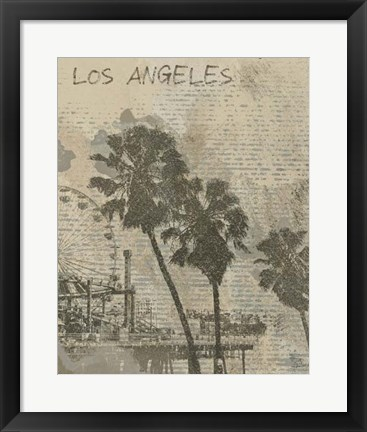Framed Remembering Los Angeles Print