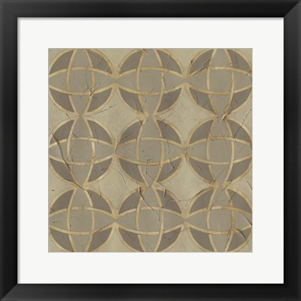 Framed Golden Trellis VII Print