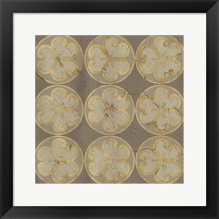 Framed Golden Trellis IX Print