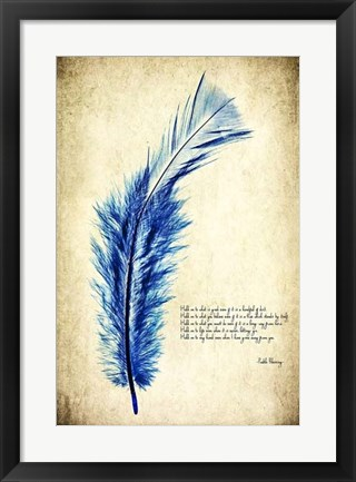 Framed Feather in Color I Print