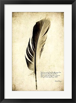 Framed Feather on the Wind III Print