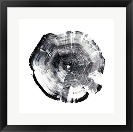 Framed Tree Ring Abstract I Print