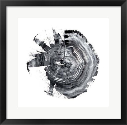 Framed Tree Ring Abstract II Print