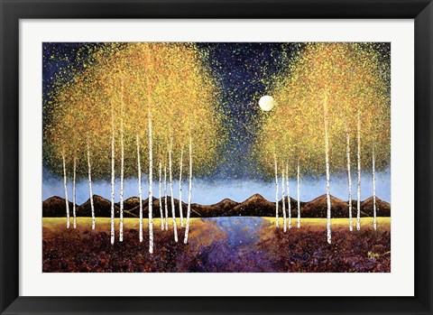 Framed Full Moon Panorama Print