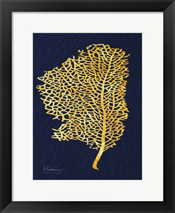 Framed Golden Sea Fan Print