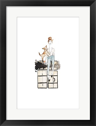 Framed NYC Or Bust Illo Print