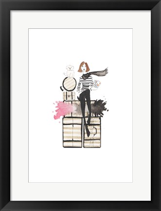 Framed Paris or Bust Illo Print