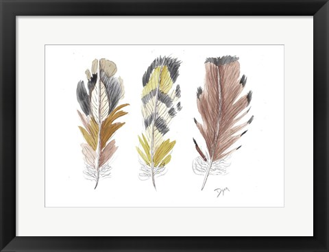 Framed Earthy Flight 2 Print