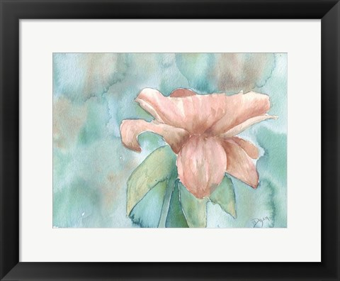Framed Blush Rose 2 Print