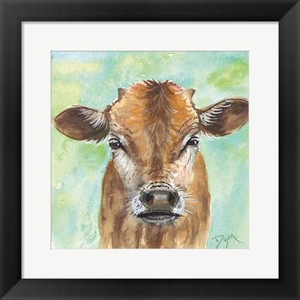 Framed Little Bull Print