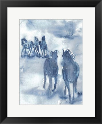 Framed Thundering Hooves Print