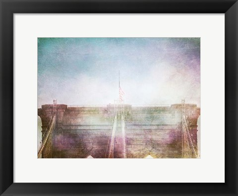 Framed Brooklyn Bridge Mom Print