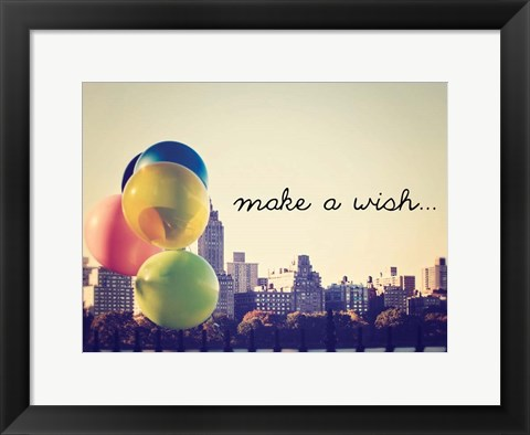 Framed Make A Wish NYC Print
